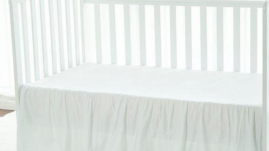 The durable any cribs White bed massage bed dust ruffle crib skirt