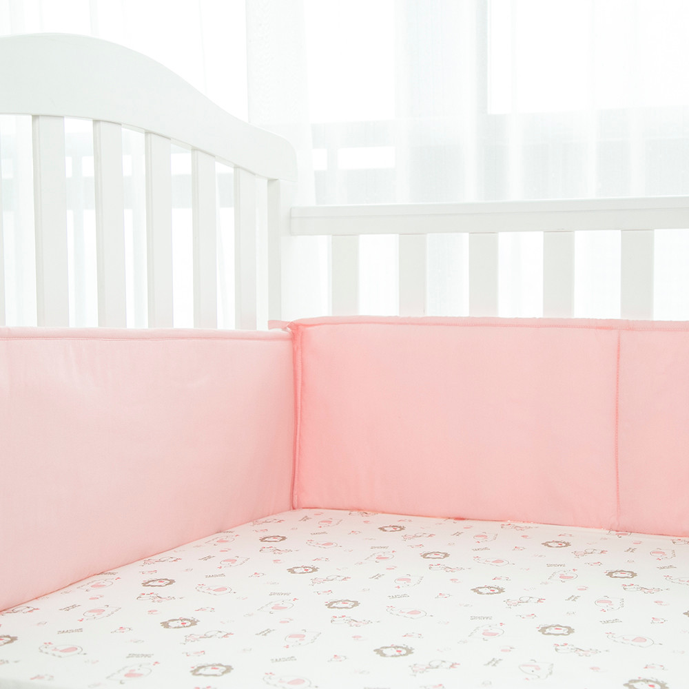 Attractive design in cribs 100% cotton organic crib bumper