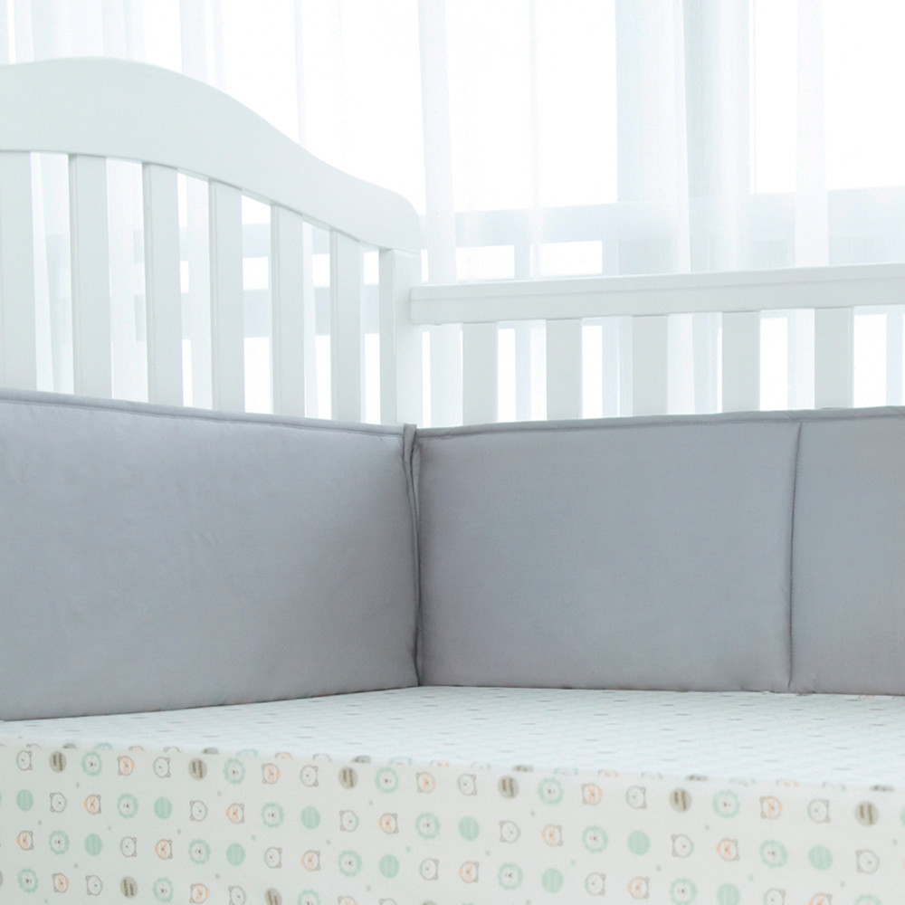 Cheap crib bedding sets with breathable baby bumpers for cribs