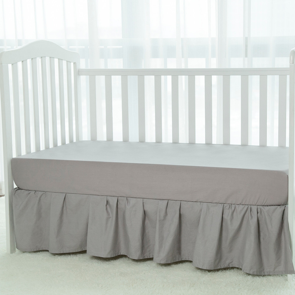 High quality baby bed skirt dust ruffle for crib for baby bedding