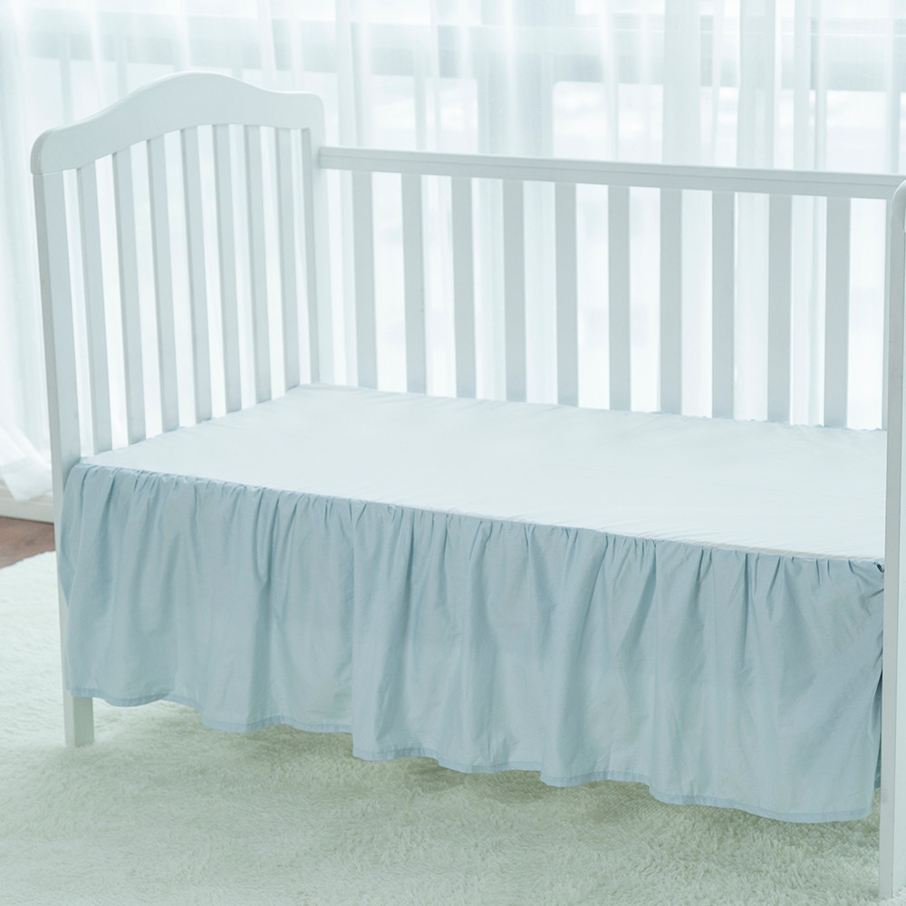 Eco-friendly massage bed crib skirt dust ruffle set for baby