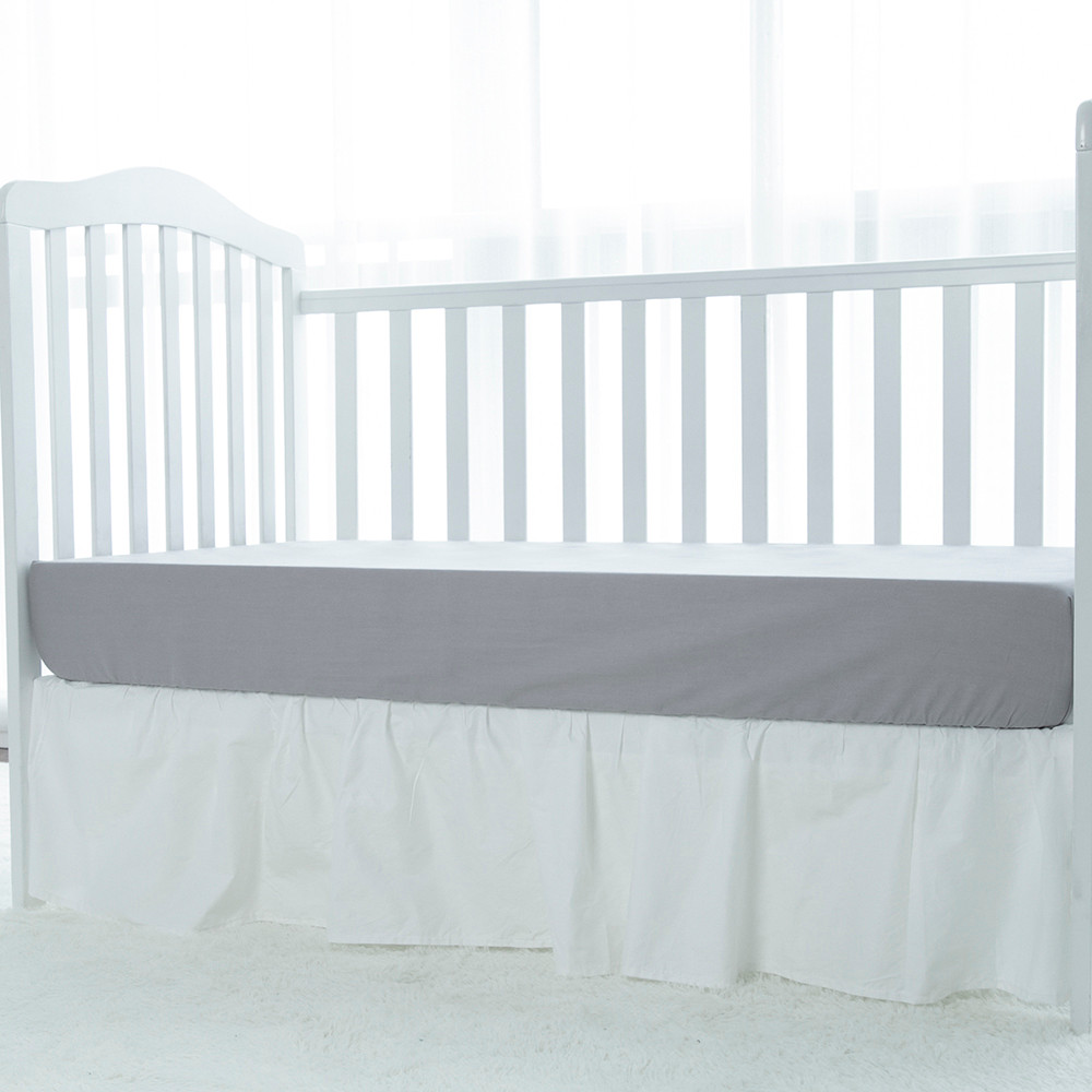 White bed massage bed dust ruffle baby crib skirt any cribs