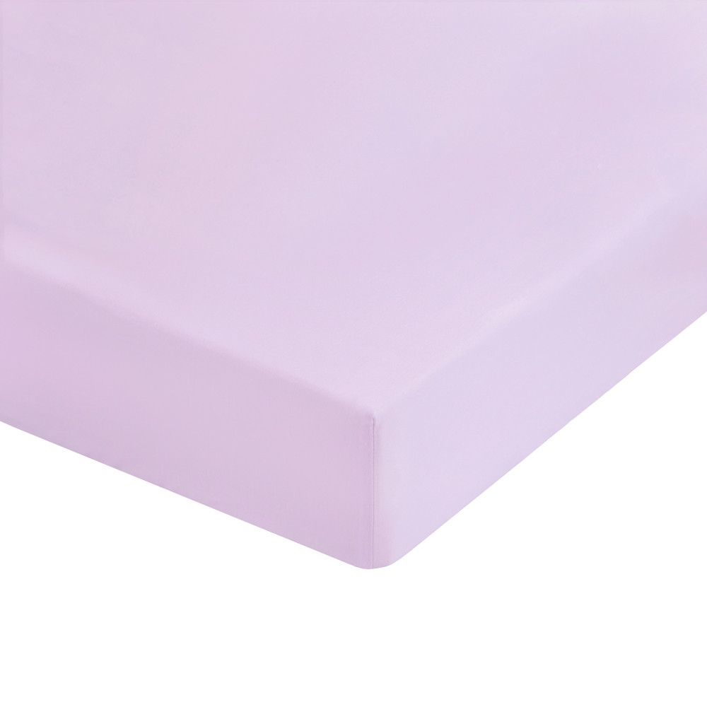 Extra Soft 100% Combed Cotton brushed single flat pink bed sheets