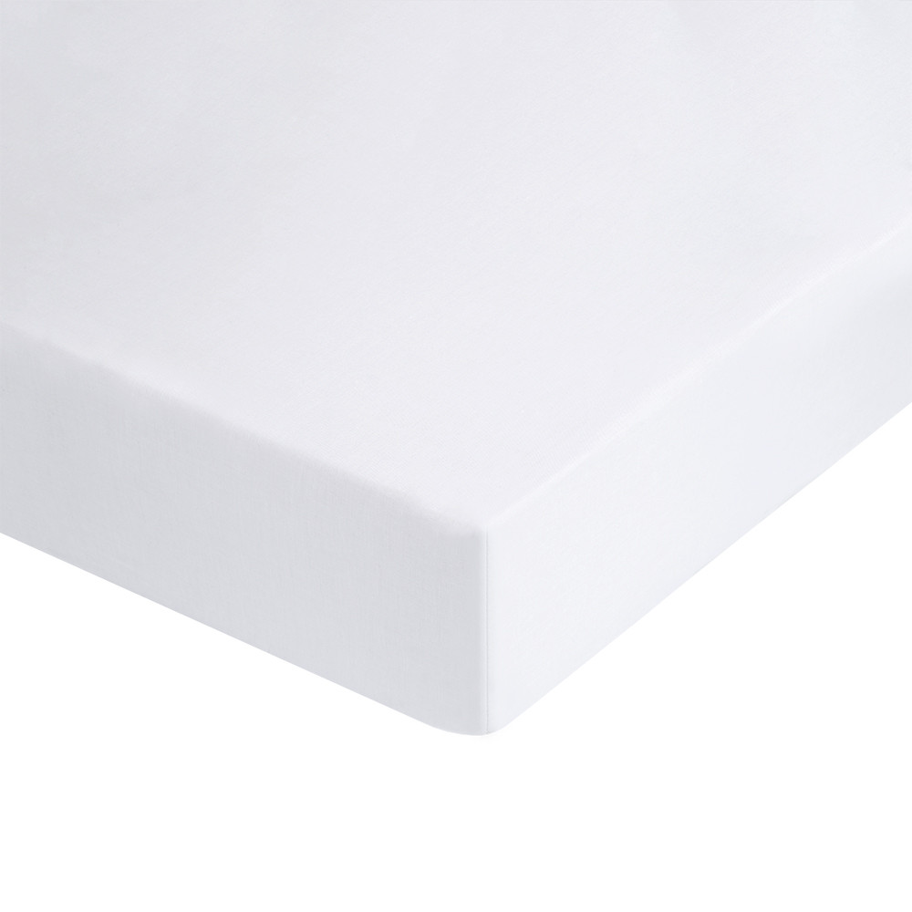 Wholesale white baby bedding flat bed crib sheets 100% cotton